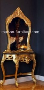 gilded wood baroque console table with mirror frame is a furniture best seller