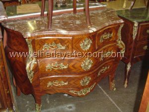 This French Louis XV Bombé Commode is a top seller French furniture Reproduction