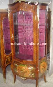 Louis XV Bombé Vitrine is a bestselling french furniture